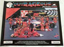 Semi-Pro ARENA FOOTBALL Charlotte RAGE CHEERLEADER Team Vintage Poster: 1990's