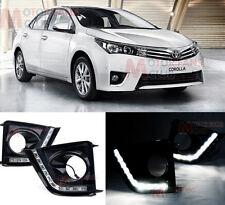 DRL Driving Daytime Running LED Light Front Fog Light for Toyota Corolla 2013-15