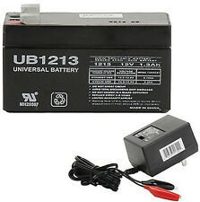 UPG 12V 1.3AH Replaces Panasonic LC-R121R3P SLA Battery  WITH CHARGER