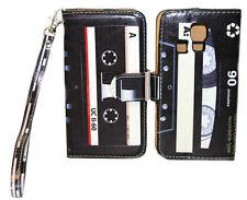 Classic & Retro Cassette Wallet Leather Case Kyocera Hydro LIFE C6350 ICON C6730