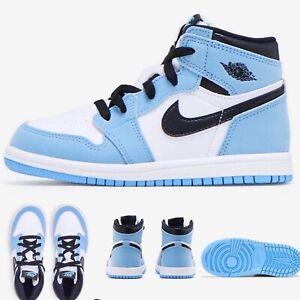 Nike Air Jordan 1 Retro High (TD) AQ2665-134 University Blue Size 8c 💯Authentic