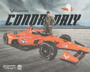2020 Conor Daly U.S. Air Force USAF Bell X-1 Chevy Indy 500 Indy Car postcard