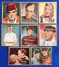 Gustav Fröhlich 1935 Bunten Filmbilder Film Star Cigarette Cards Lot of 8