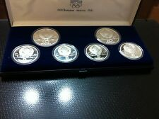 RUSSIA SILVER SET - 6 COINS - XXII OLYMPIAD MOSCOW 1980- PROFF- NEW !!!