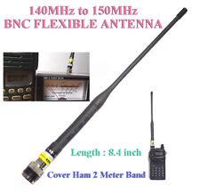 "8.4"" Rubber Duck 140-150MHz Ham Amateur Radio 144MHz 2Meter BNC Flexible Antenna"