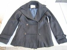 NEW* ELEMENT LADIES M PEACOAT SHIRT JACKET COAT TOP Black Wool $120 Retail
