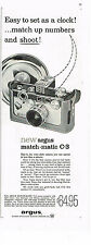 PUBLICITE ADVERTISING    1959   USA   ARGUS  appareil photo  MATCH MATIC  C- 3