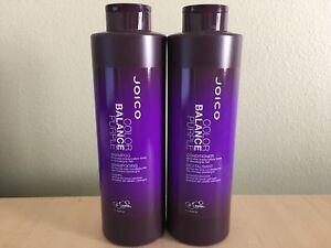 Joico Color Balance Purple Shampoo and Conditioner 33.8 oz/Liter Duo