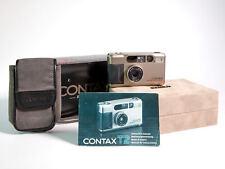 A/B + + Contax T2 Argent Titane ZEISS SONNAR 38 mm f/2.8 T * avec boîte de présentation