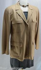Liz Claiborne Blazer Sport Coat Jacket Lizsport Felt Wool Cashmere safari 6 NEW