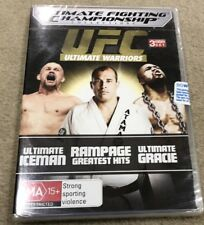 UFC - Ultimate Warriors Collection (DVD, 2012, 3-Disc Set) Brand New Sealed R4