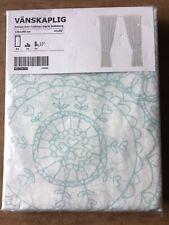 VÄNSKAPLIG 103.326.93 Curtains & tie-backs turquoise White Ann Cathrine Sigrid