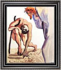 Salvador Dali Divine Comedy Limited Edition Glazed Ceramic Tile Signed Artwork