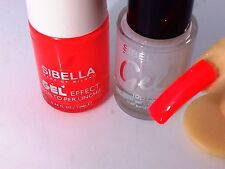 Gel Smalto Arancione Fluo + Top Coat Semipermanente No UV Moda Nail Art