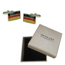 Mens German Flag Germany Country Cufflinks & Gift Box By Onyx Art