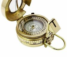 Nautical Brass Antique Military Compass Vintage Style Collectible Decor Gift