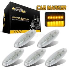(5) Clear Cab Clearance Roof Running 6 LED Amber Light for Freightliner Cascadia
