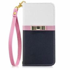 30a845e5a Bowknot Wallet iPhone X 8 7 6 S Plus Women Leather Case Cover Hello Kitty  Mirror