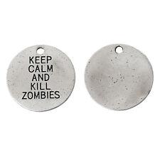 Keep Calm and Kill Zombie-Piccolo Charm-WALKING DEAD - 20mm (QTY x 5)