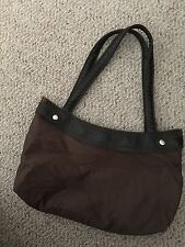 Thirty-One Fitted Skirt Purse Brown