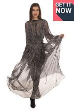 RRP€2335 STELLA MCCARTNEY Maxi Dress Size 42 / S Silk Blend Polka Dot Inner Slip