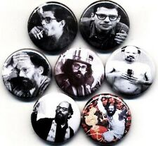 ALLEN GINSBERG 8 NEW button pin badge beatnik HOWL LES poet