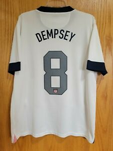 Nike USA US Soccer USMNT 2013 Centennial Home Jersey Clint Dempsey #8 Size L