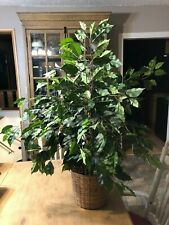 Artificial Ficus Tree - Silk 3 Feet - Green Natural Looking Natural Trunk