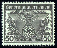 6036-GERMAN EMPIRE-Third reich.WWII.GENERALGOUVERNEMENT NAZI Court REVENUE MNH**