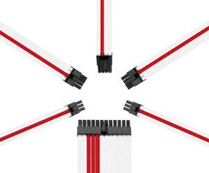 Reaper Kabel-Netzteil Erweiterungssatz-PSU Verlängerungen-weiß/rot