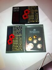 1995  AUST PROOF SET OF 6  COINS    THE  END OF WW11