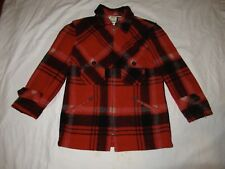 Vintage POLO Ralph Lauren Size 2p Wool Hunting Jacket Coat Red Plaid Made USA