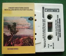 Rex Allen with Victor Young Under Western Skies HATC 3001 Cassette Tape - TESTED