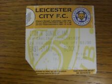 24/02/2001 Ticket: Leicester City v Sunderland  (folded, corner trimmed). Faults