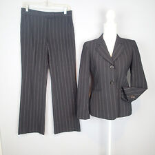 anne klein  2PC,BLAZER,SUIT,Jacket pants  SZ 2p black white stripes W8