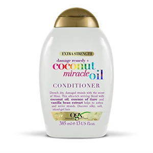 OGX Coconut Miracle Oil Conditioner for Damaged Hair, Extra Strength, 385 ml