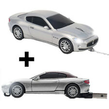 Click Car Maserati GT Silver Wired Optical Mouse with BONUS 8GB USB Memory Stick