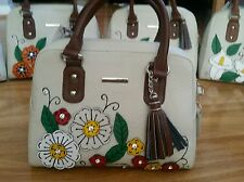 Beautiful authentic Mexican hand bags, real leather, hand painted, designer