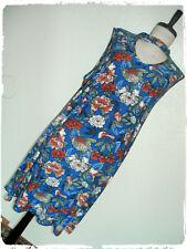 Derek Heart Cobalt Blue Botanical Floral Sparrow Choker Keyhole A Line Dress 2X