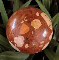 Exmouth Western Australia Pudding Stone 95mm Rock Sphere Oncolite Jasper EPS3