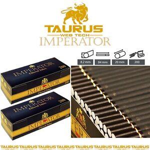 4000 x IMPERATOR BLACK Filter TUBES Tips Paper GOLD Smoking Cigarette Tobacco UK