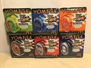 MCDONALD'S COMPLETE SET OF 6 YOMEGA YOYO'S NEW IN BOX SEALED