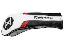 TaylorMade Rescue Headcover White/Black/Red PU Leather M1, M2, R15 - New 2017