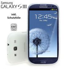 Samsung Galaxy S3 Silicona Delgado Funda Protectora Original Blanco Transparente