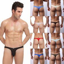 Mens G-string Thongs Breathable Underwear Thin Transparent Size M L XL