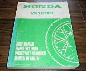 HONDA VF1000F Interceptor Supersport Motorrad 1984- General WERKSTATT HANDBUCH