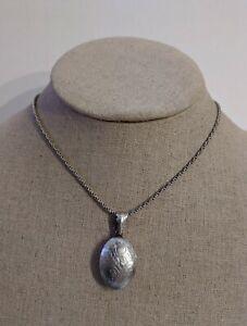 Silver Blue Stone Capsule Locket Silver Bubble Pendant Shadow Box Hinged Vintage Keepsake Locket Jewelry Supplies 096