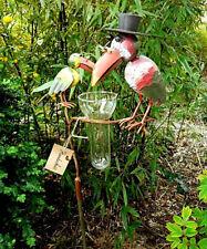 Neu* Regenmesser Raben Trick und Track Gartenstecker Rabe Vogel Metall Glas bunt