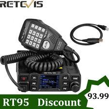 Retevis RT95 Dual Band Mobile Car Ham Radio CTCSS/DCS 200CH DTMF Alloy Body