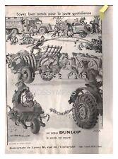 1933 DOCUMENT (ref Eiv 687) PUB  : PNEU DUNLOP  par DELARUE NOUVELLIERE 1p